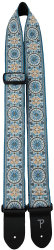 "Perri's 6806 2"" Jacquard Blue Mandala Hope - pasek do gitary"