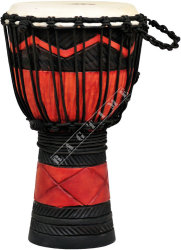 Ever Play DA 40 RB SQ Djembe Jammer Red Black Squa - djembe
