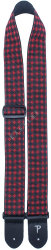 "Perri's 7064 2"" Jacquard Diamons Black Red - pasek do gitary"