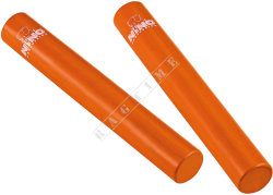 Nino NINO576OR Rattle Stick Orange - klawesy drewniane, para