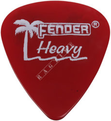 Fender California Clear Pick 351 CA Red Heavy - piórko do gitary