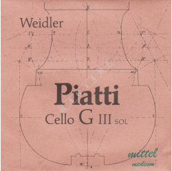 Weidler Piatti cello G Steel Core - struna G do wiolonczeli