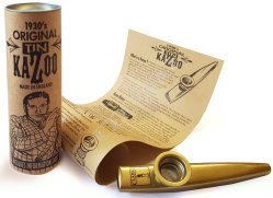 Clarke Metal Kazoo Gold Coated - kazoo