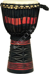 Ever Play Dapro 50 4 Djembe Prof. Diamond Red Black - djembe