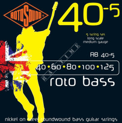 Rotosound RB40-5 40-125 - struny do basu