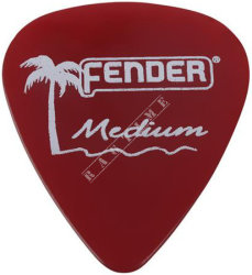 Fender California Clear Pick 351 CA Red Medium - piórko do gitary