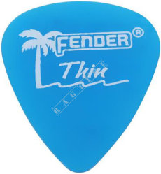 Fender California Clear Pick 351 LP Blue Thin - piórko do gitary
