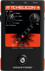 TC Helicon VoiceTone R1 Vocal Tuned Reverb - efekt wokalowy