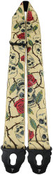 "Perri's 7058 2"" Skull And Roses Jacquard - pasek do gitary"