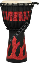 Ever Play DA 65 RB FR Djembe Jammer Red Black Fire - djembe