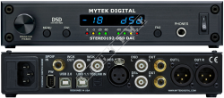 Mytek Stereo 192 DSD DAC Black Preamp Version - Interface Firewire