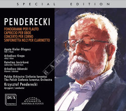 Dux 1274 Krzysztof Penderecki Concertos for Wind Instruments and Orchestra